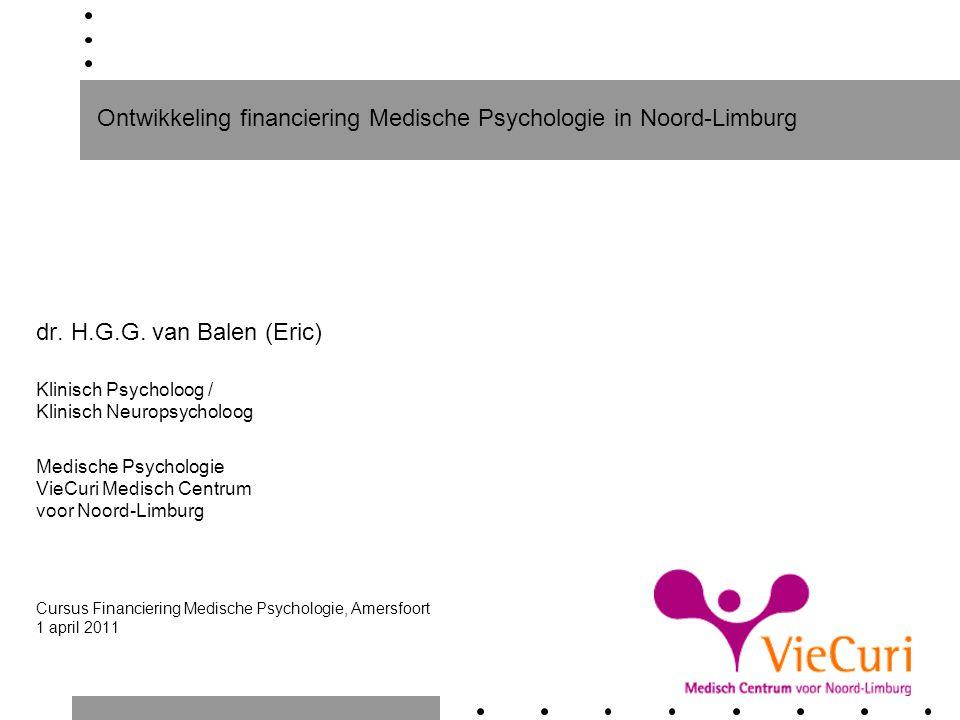 Ontwikkeling financiering Medische Psychologie in Noord-Limburg