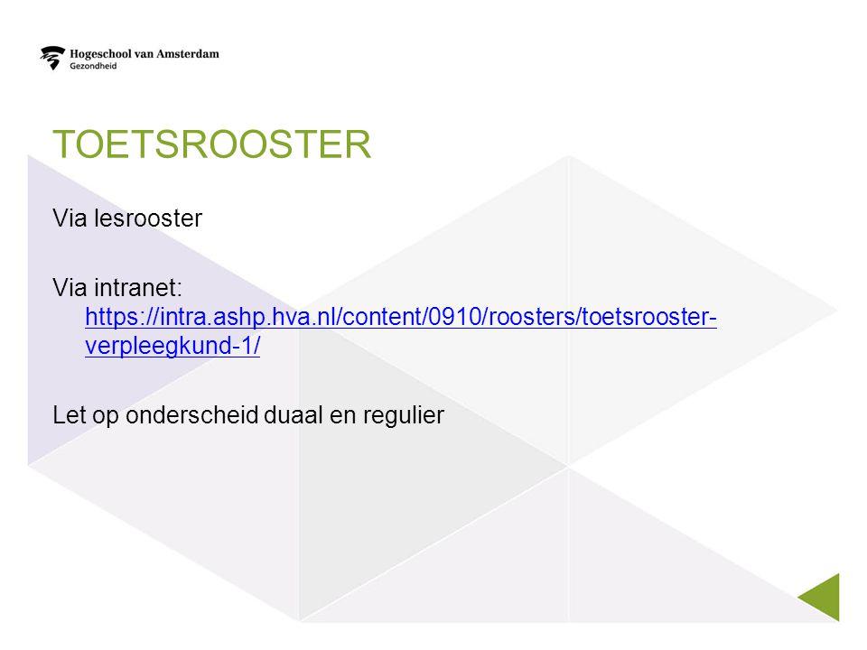 Toetsrooster