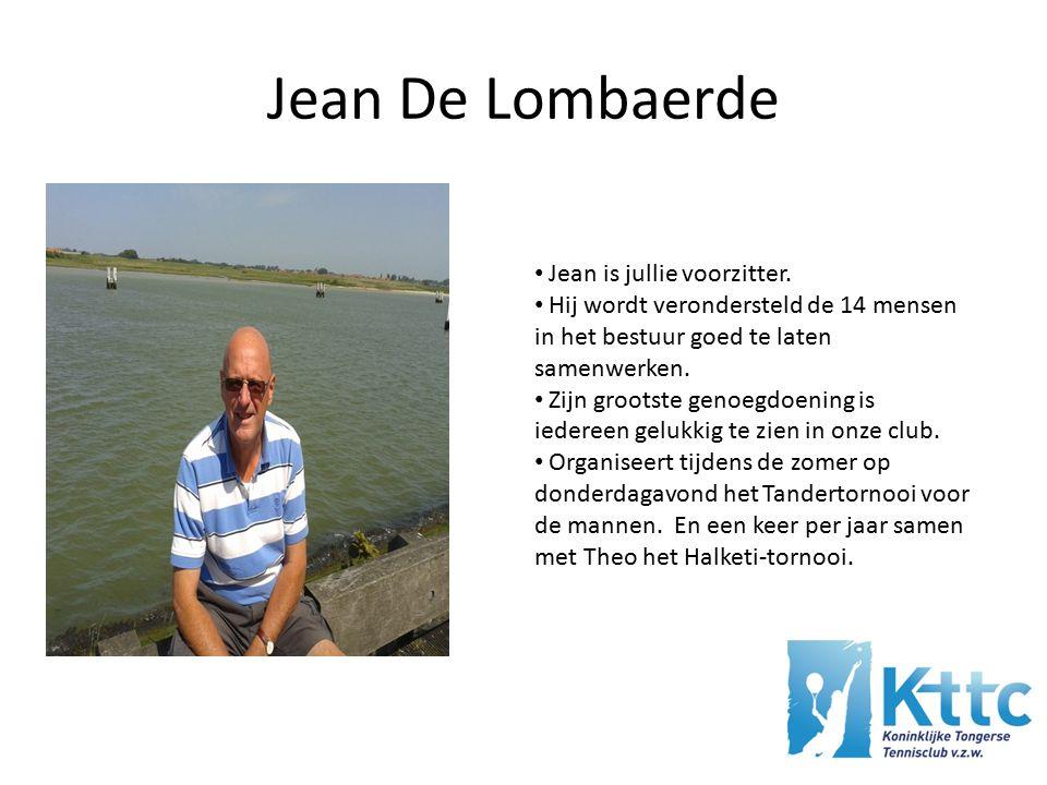 Jean De Lombaerde Jean is jullie voorzitter.
