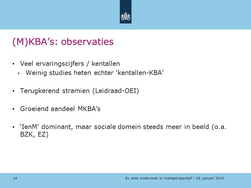 (M)KBA's: observaties
