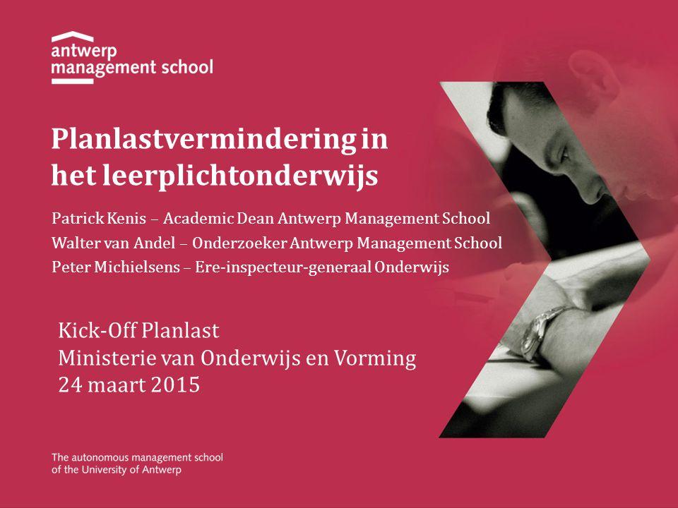 Planlastvermindering in het leerplichtonderwijs