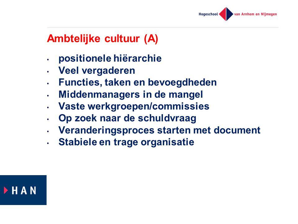 Ambtelijke cultuur (A)