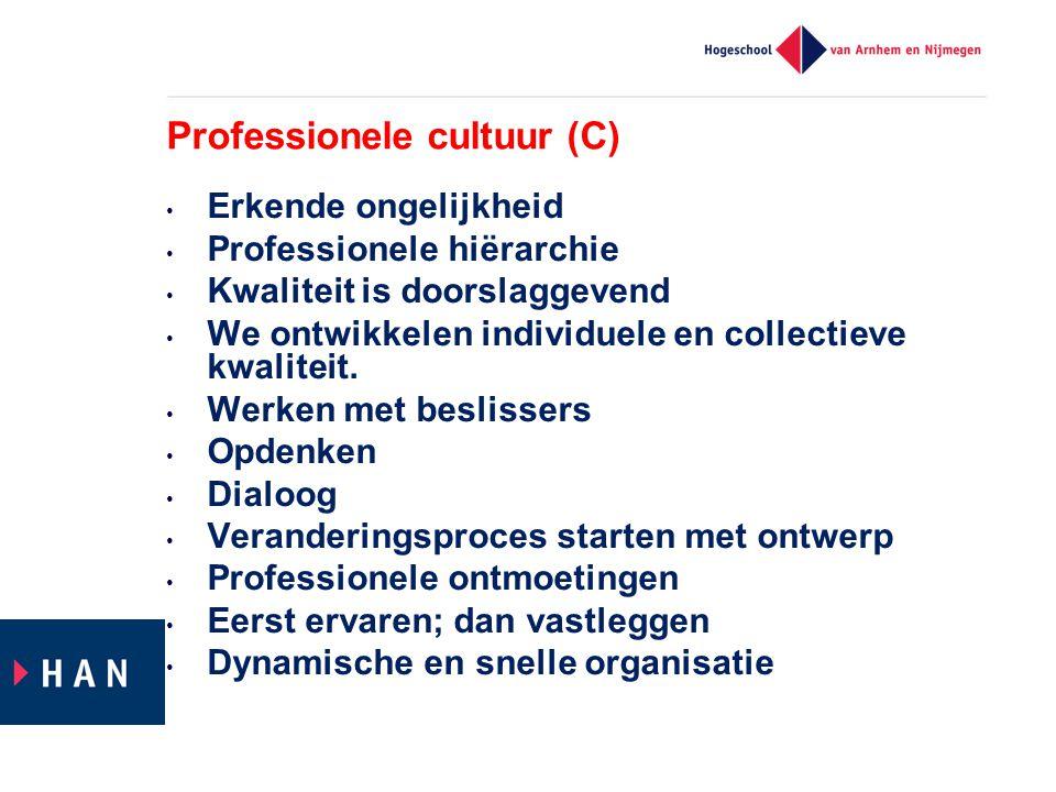 Professionele cultuur (C)