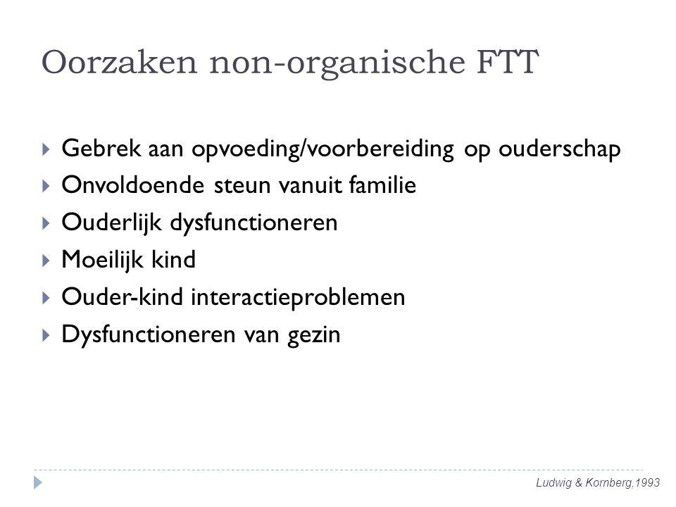 Oorzaken non-organische FTT