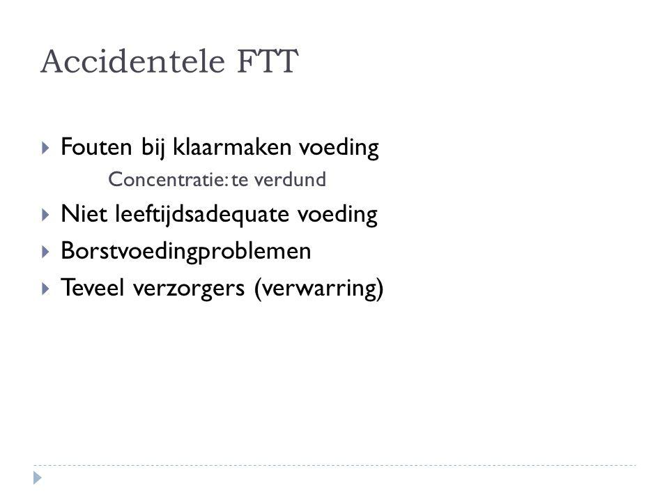 Accidentele FTT Fouten bij klaarmaken voeding