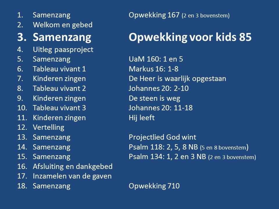 Samenzang Opwekking voor kids 85