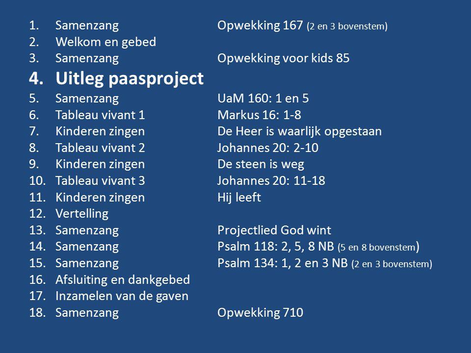 Uitleg paasproject Samenzang Opwekking 167 (2 en 3 bovenstem)