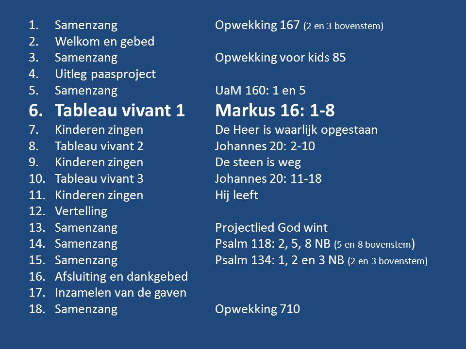 Tableau vivant 1 Markus 16: 1-8