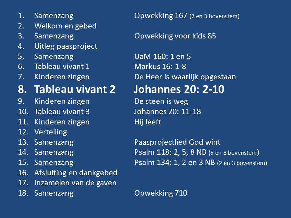 Tableau vivant 2 Johannes 20: 2-10
