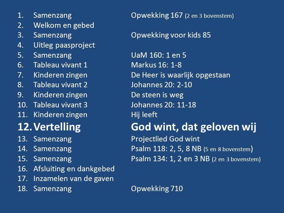 Vertelling God wint, dat geloven wij
