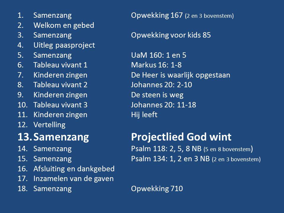 Samenzang Projectlied God wint