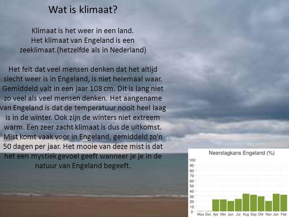 Klimaat is het weer in een land.