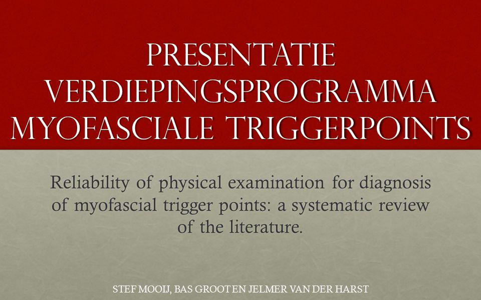 Presentatie Verdiepingsprogramma myofaSciale triggerpoints