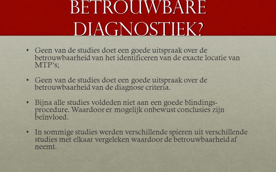 Betrouwbare diagnostiek