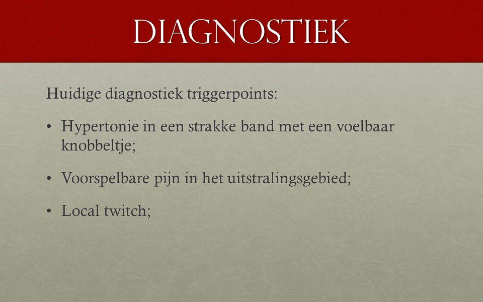 Diagnostiek Huidige diagnostiek triggerpoints: