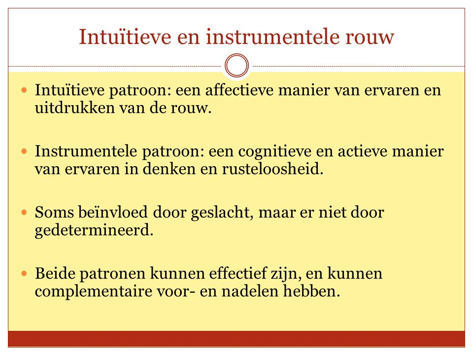 Intuïtieve en instrumentele rouw