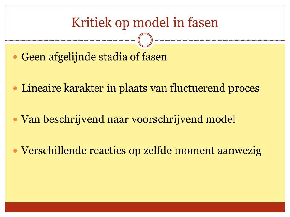 Kritiek op model in fasen