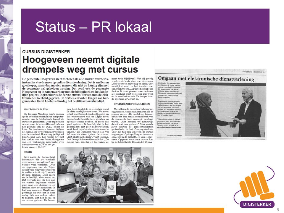 Status – PR lokaal