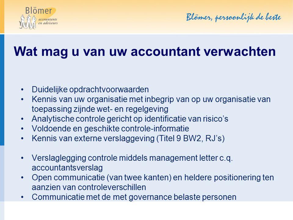 Wat mag u van uw accountant verwachten