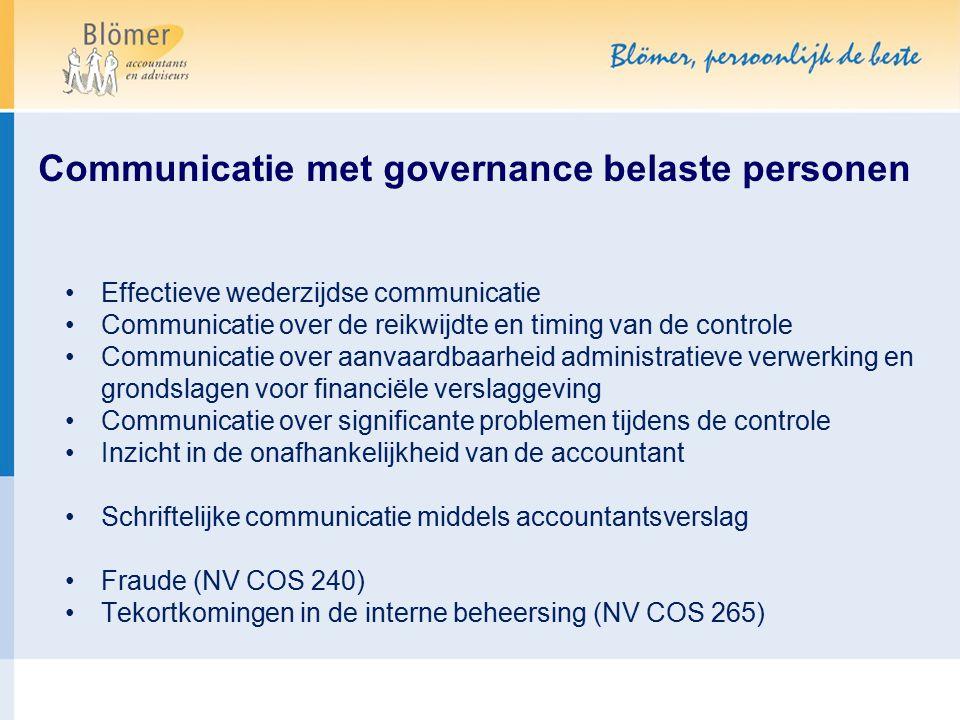Communicatie met governance belaste personen