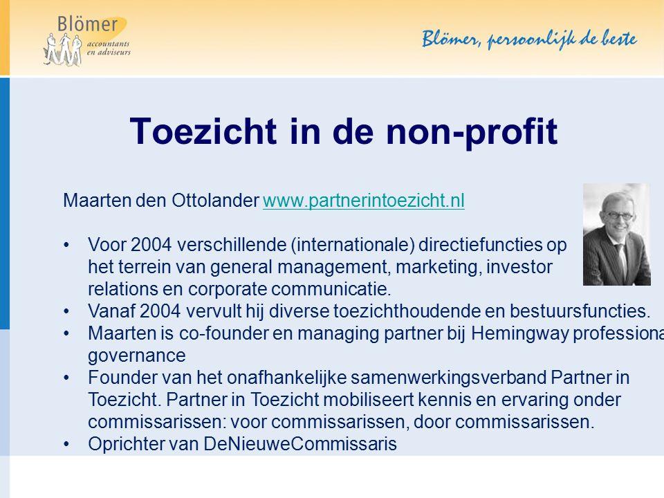 Toezicht in de non-profit