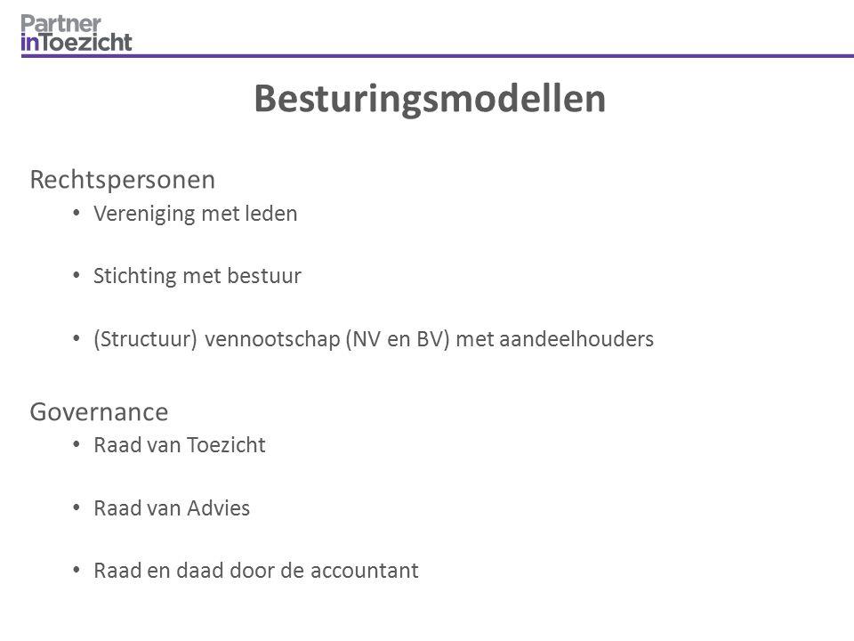 Besturingsmodellen Rechtspersonen Governance Vereniging met leden