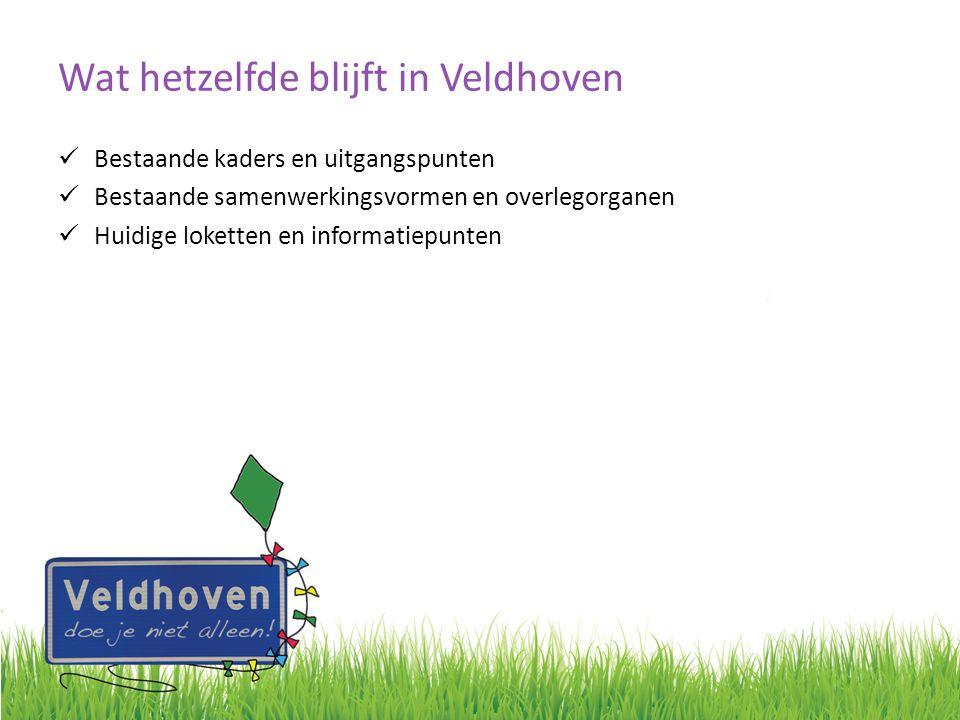 Wat hetzelfde blijft in Veldhoven