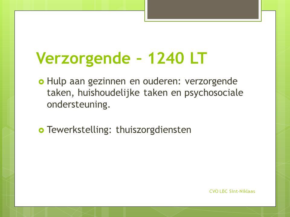 Verzorgende – 1240 LT Hulp aan gezinnen en ouderen: verzorgende taken, huishoudelijke taken en psychosociale ondersteuning.