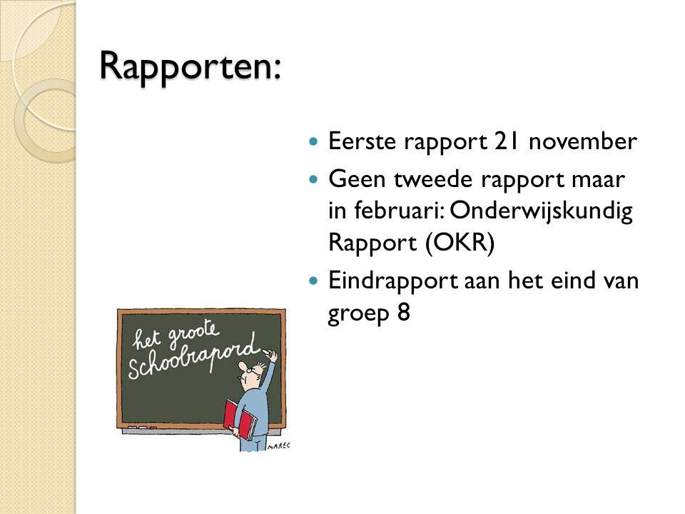Rapporten: Eerste rapport 21 november