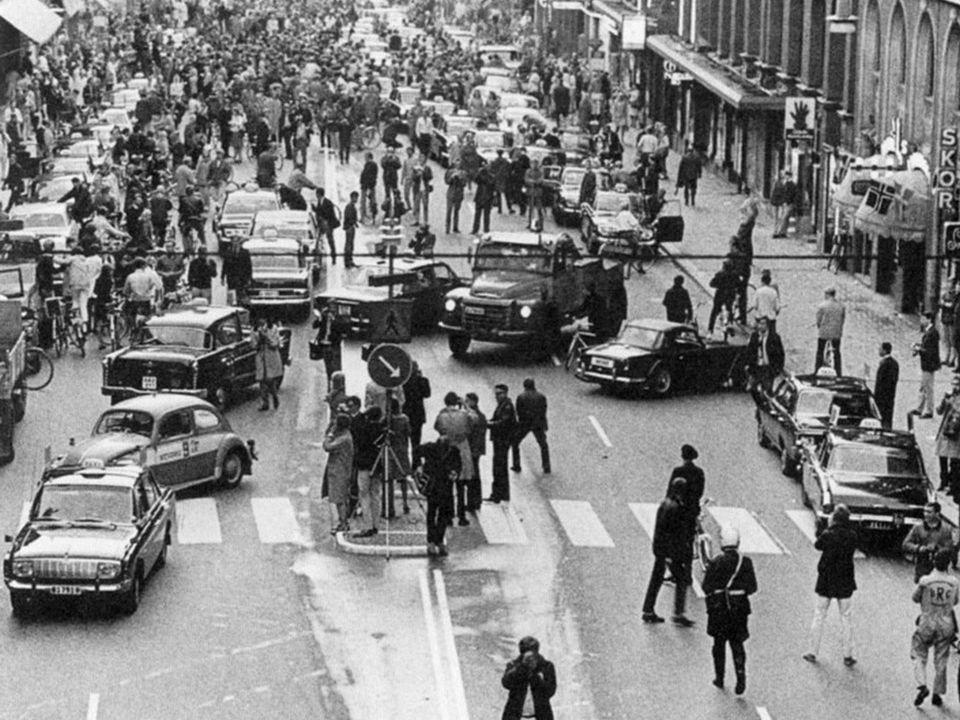 Zweden, 3 september 1967 Zweden stapt over op rechts rijden