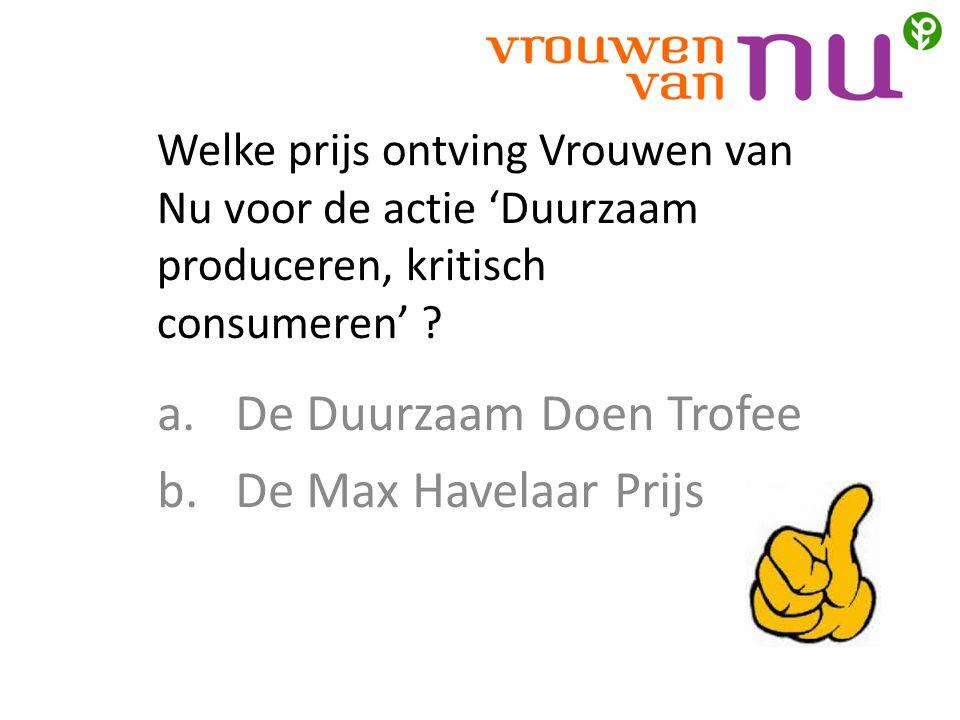De Duurzaam Doen Trofee De Max Havelaar Prijs