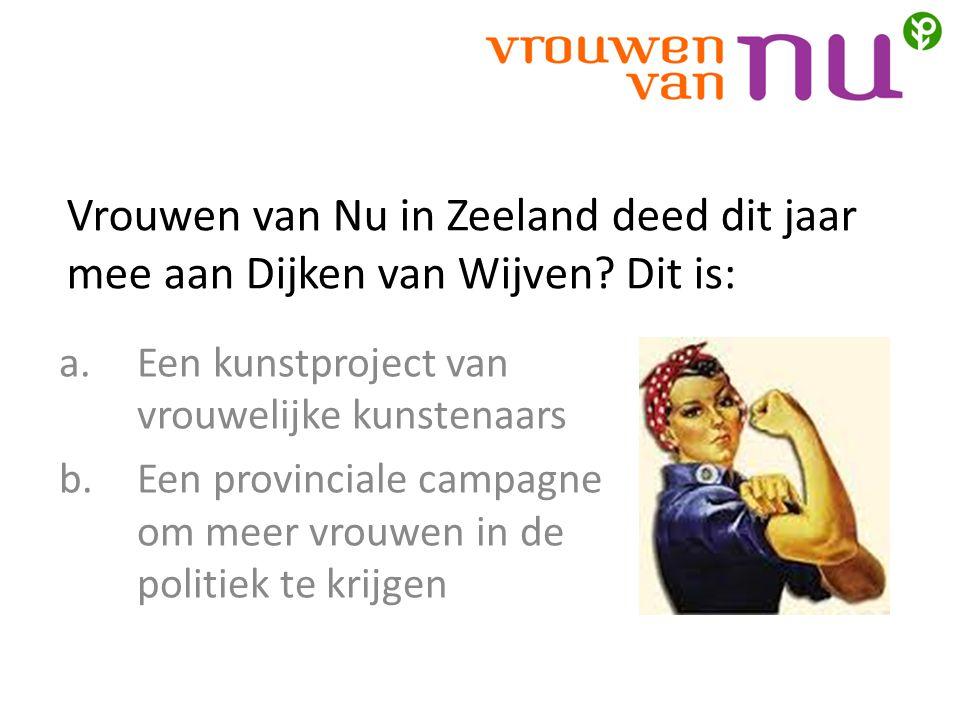 Vrouwen van Nu in Zeeland deed dit jaar mee aan Dijken van Wijven