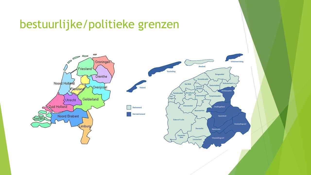 bestuurlijke/politieke grenzen