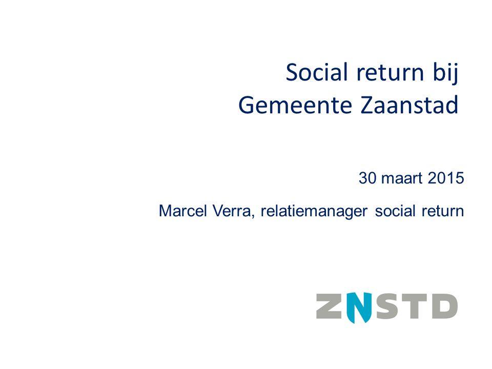 Social return bij Gemeente Zaanstad