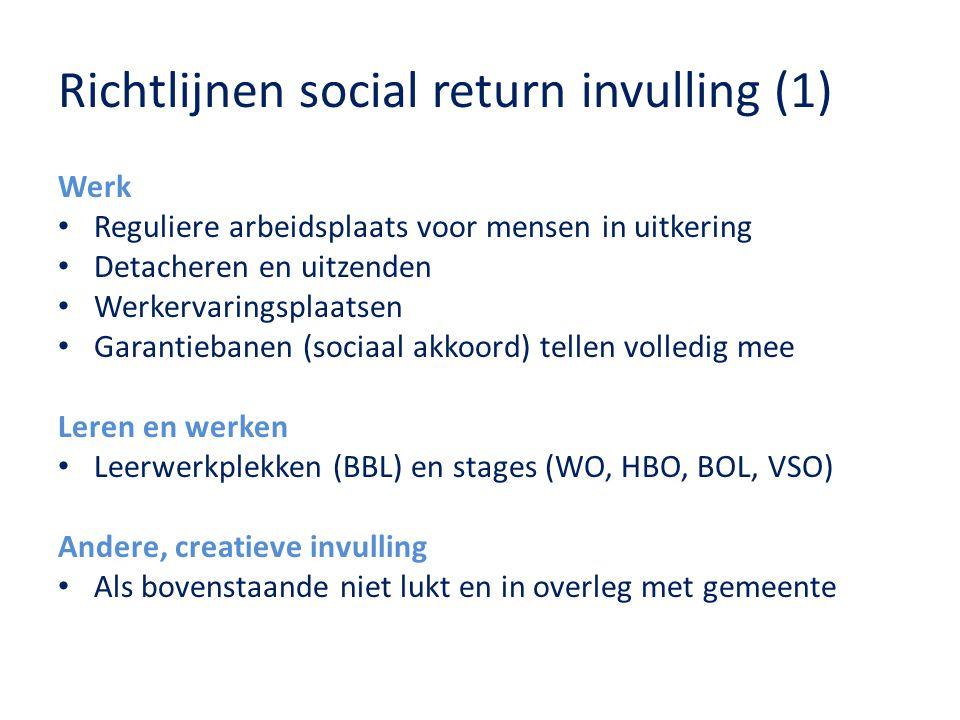 Richtlijnen social return invulling (1)