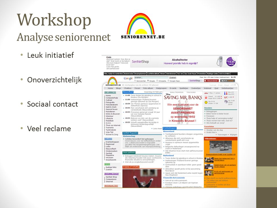 Workshop Analyse seniorennet