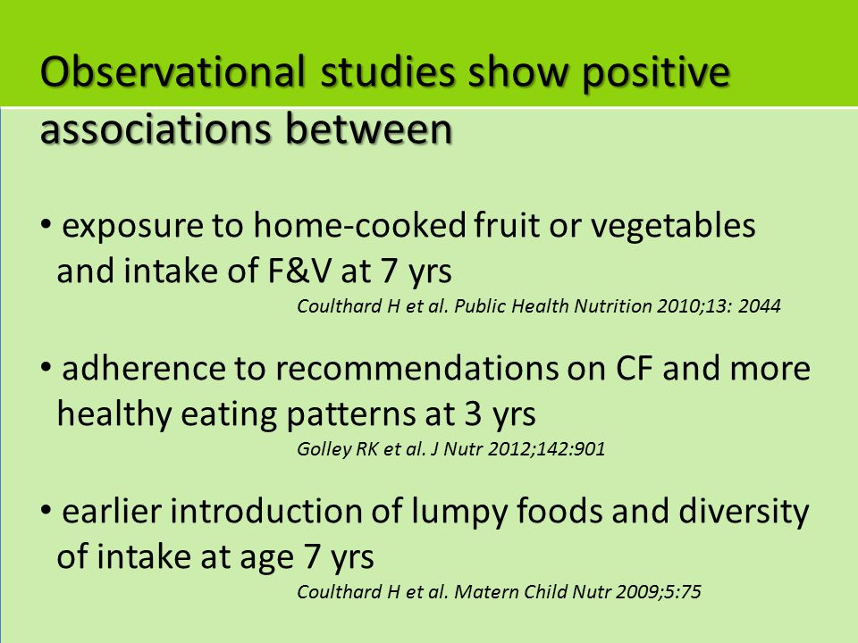 Observational studies show positive associations between