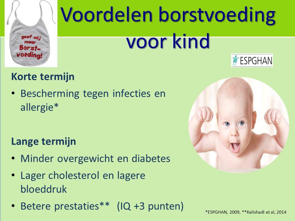 Voordelen borstvoeding voor kind