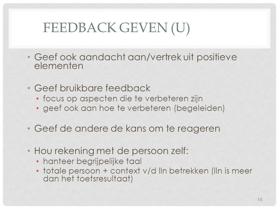 Workshop evalueren dcp ppt video online download - Hoe salon te verbeteren ...