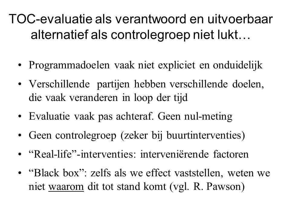 TOC-evaluatie als verantwoord en uitvoerbaar alternatief als controlegroep niet lukt…