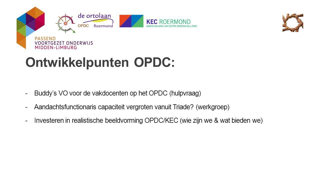 Ontwikkelpunten OPDC:
