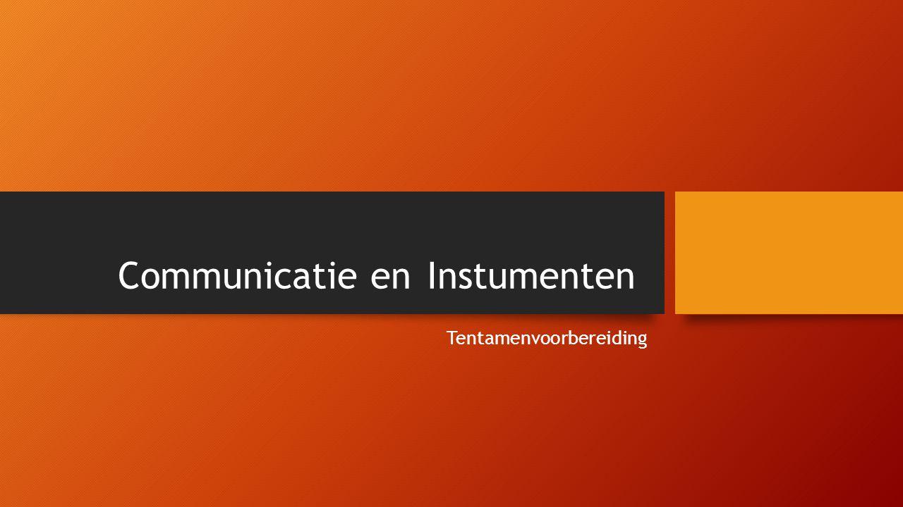 Communicatie en Instumenten