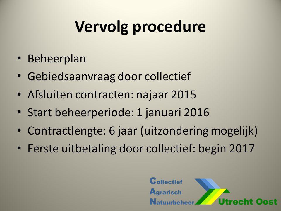Vervolg procedure Beheerplan Gebiedsaanvraag door collectief