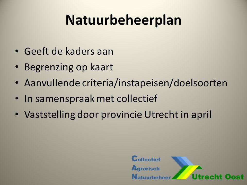 Natuurbeheerplan Geeft de kaders aan Begrenzing op kaart