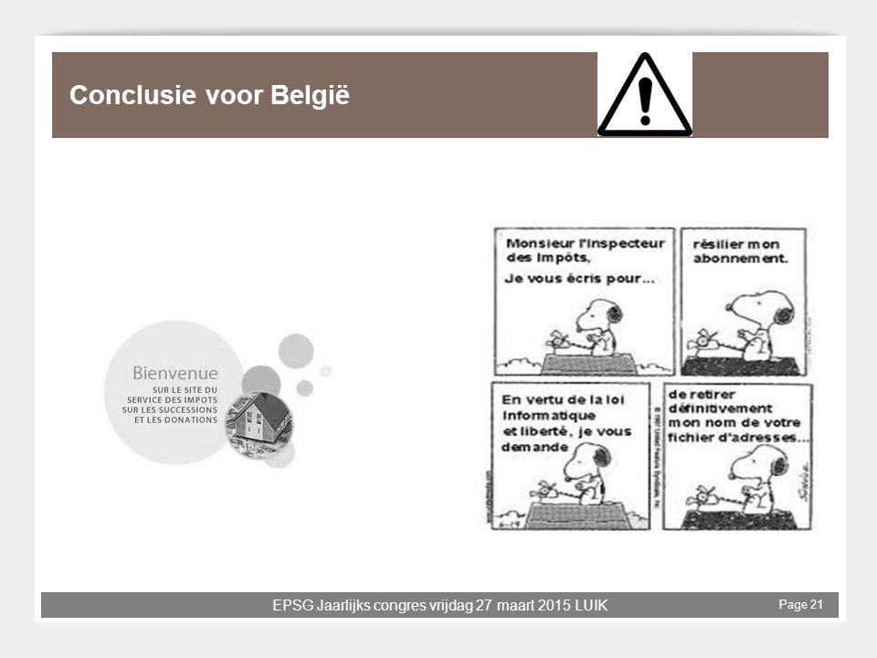 Conclusie voor België