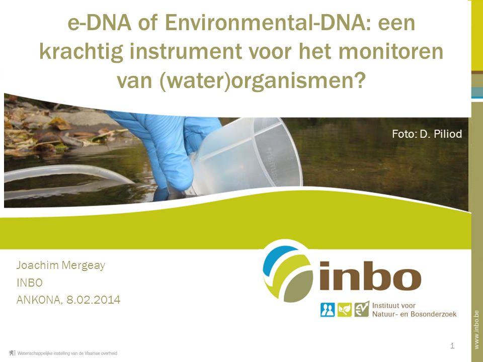 e-DNA of Environmental-DNA: een krachtig instrument voor het monitoren van (water)organismen