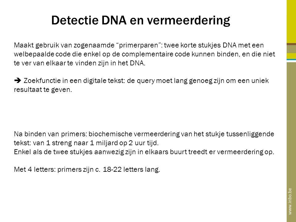 Detectie DNA en vermeerdering