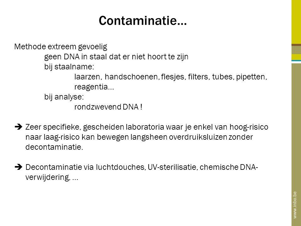 Contaminatie… Methode extreem gevoelig