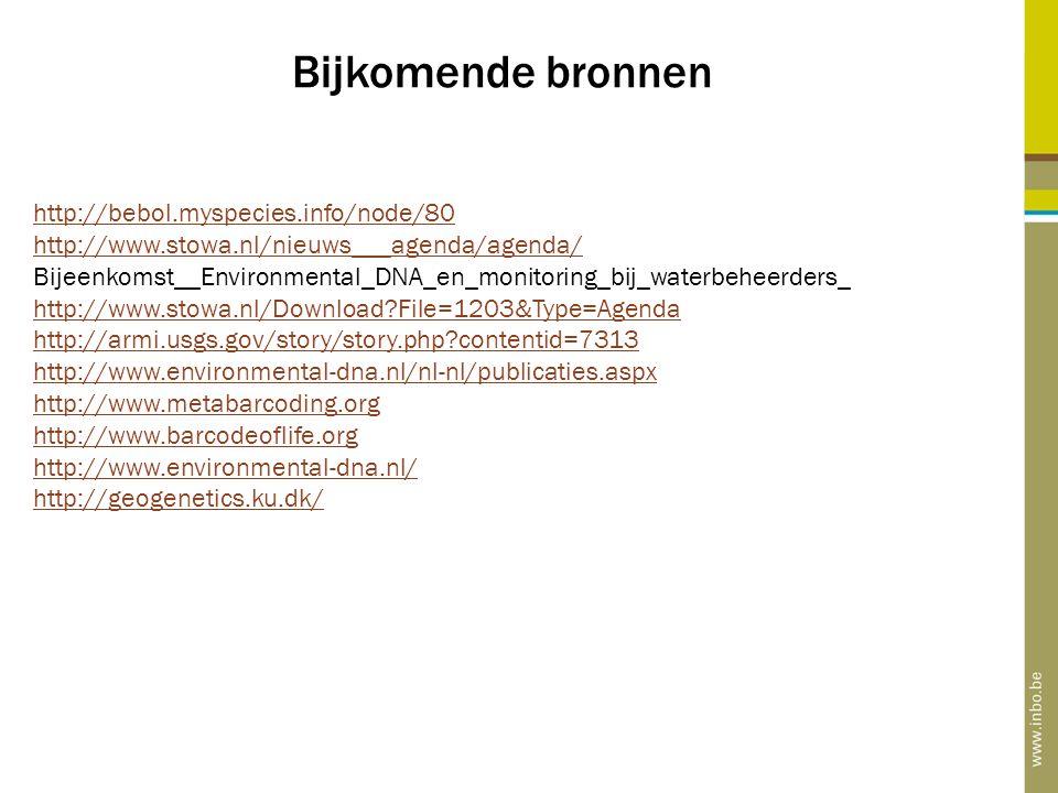 Bijkomende bronnen http://bebol.myspecies.info/node/80