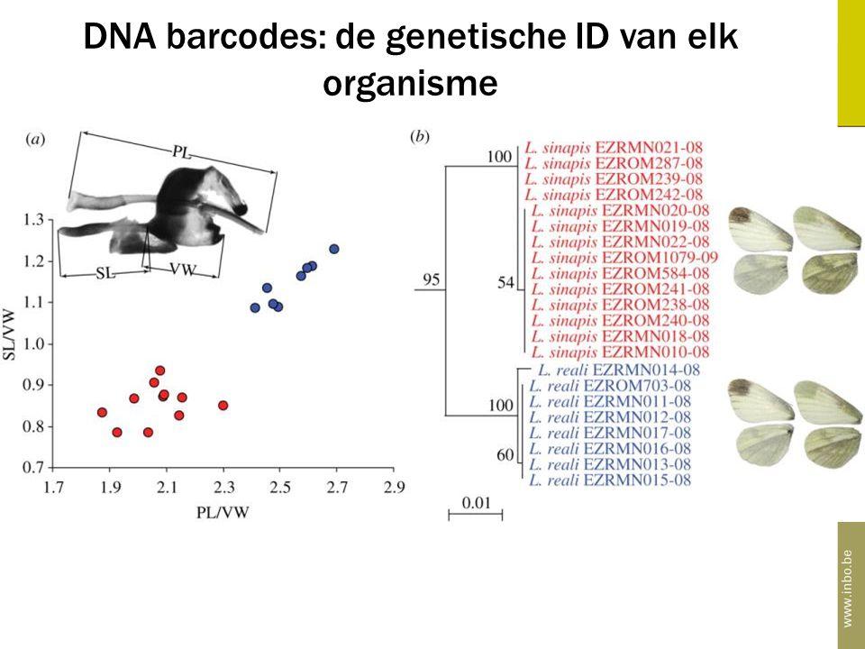 DNA barcodes: de genetische ID van elk organisme